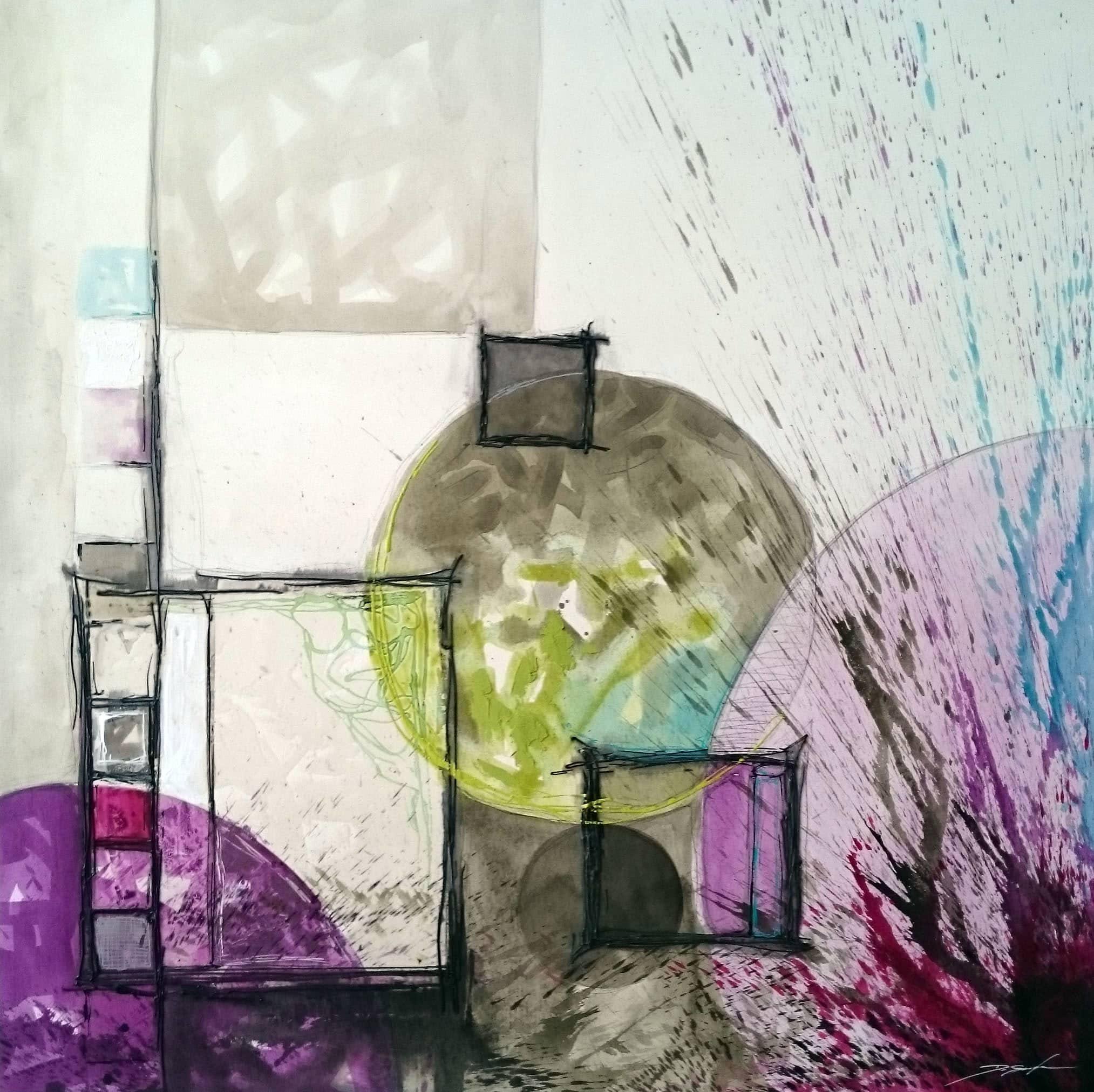 cuadros abstractos de diseño para tu hogar en estudio ambiente