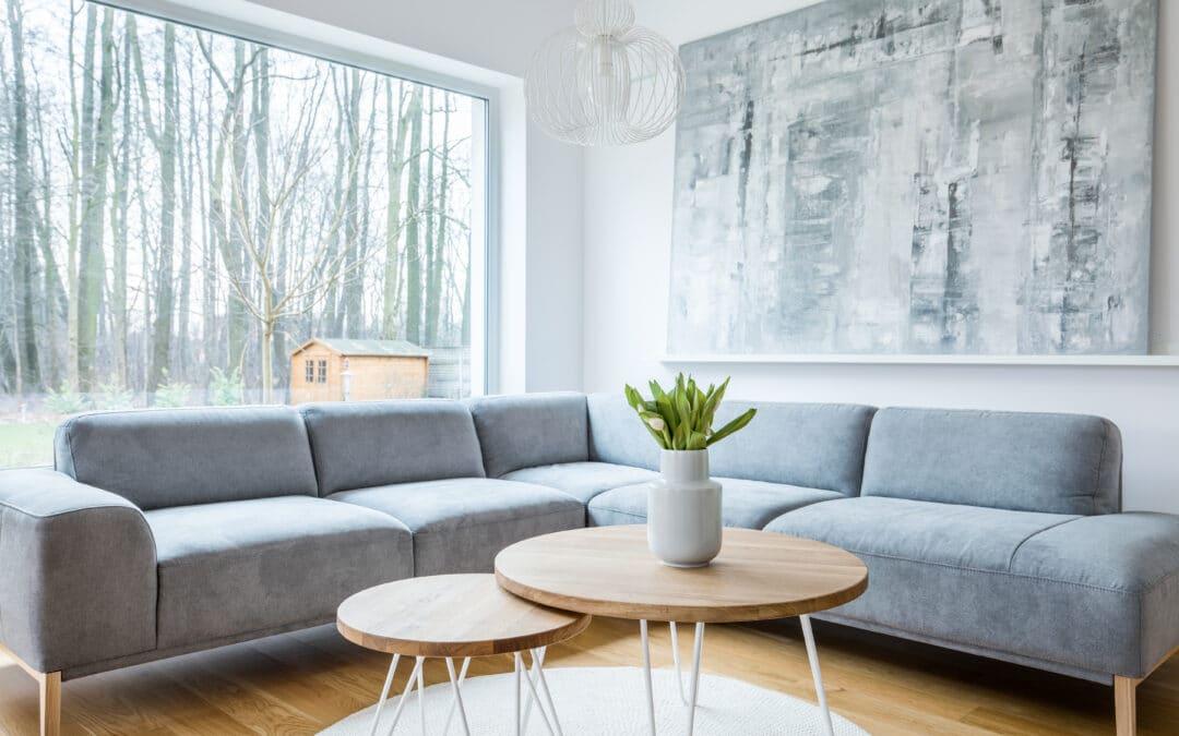 Salones con estilo minimalista